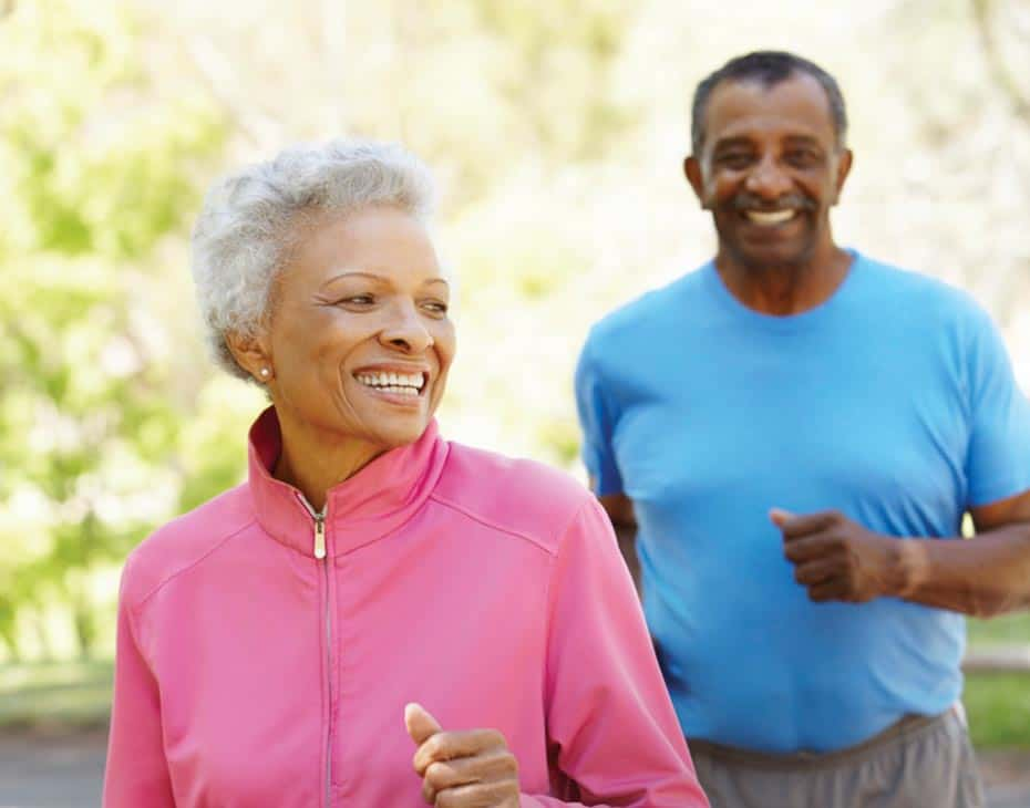Smiling Older Couple Going for a Jog