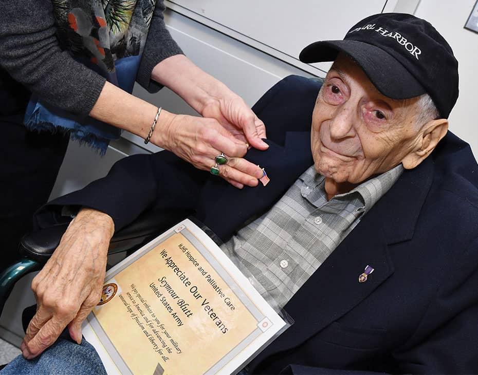 MJHS Patient and Veteran Receives Certificate of Appreciation