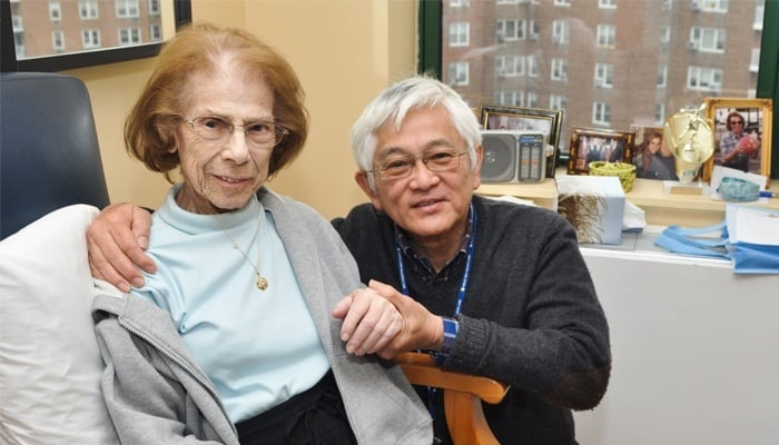 Elderly Couple in MJHS Residence Smiling at Camera